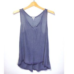 Splendid blue flowing tank top size small